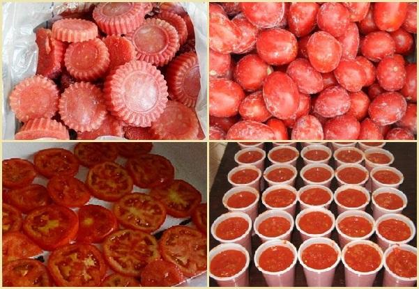 Способы заморозки томатов