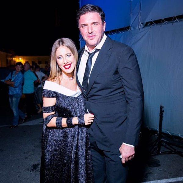 Ксения со своим мужем Максимом Виторганом
