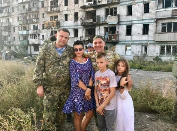 Захарченко на передовой