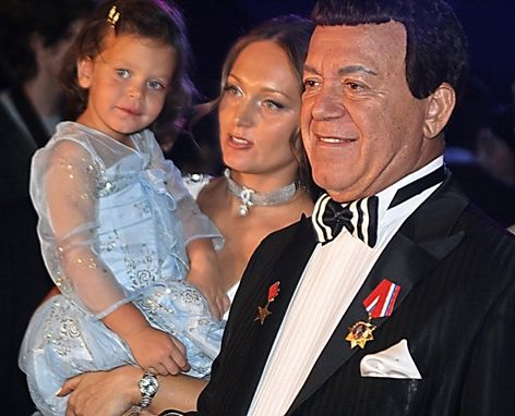 Наталья со своим отцом Иосифом Кобзоном
