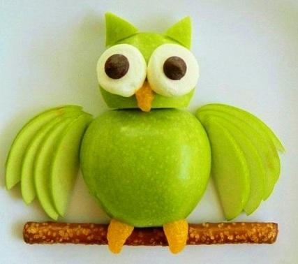 Как сделать сову из фруктов