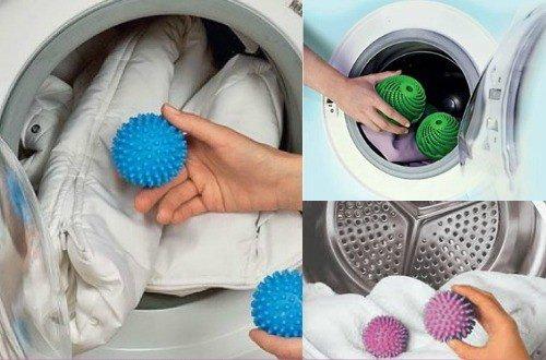 Как стирать пуховик с резиновыми мячиками