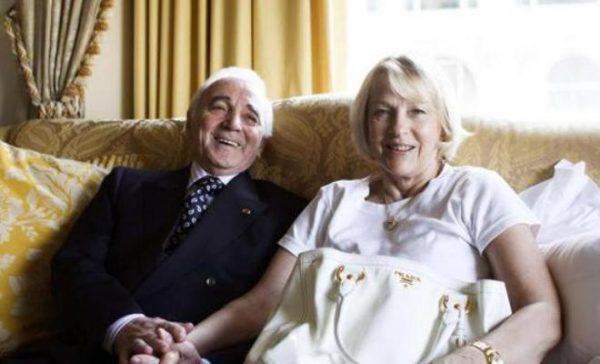 Шарль Азнавур с женой Уллой