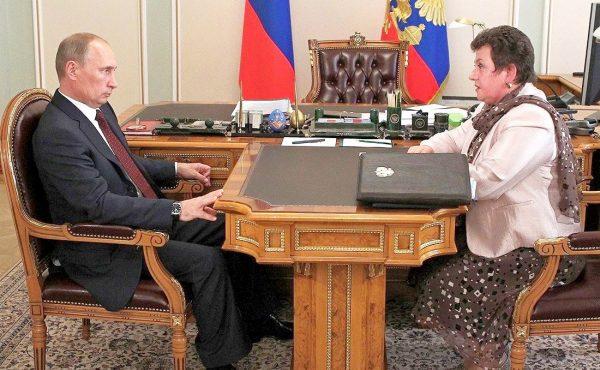 Светлана Орлова и Владимир Путин