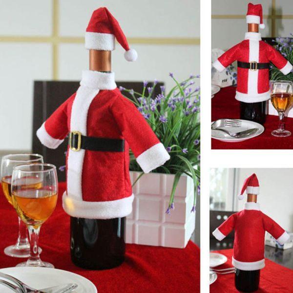 Новогодний костюм для бутылки шампанского