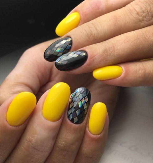 Маникюр на Новый год 2019: идеи праздничного дизайна ногтей