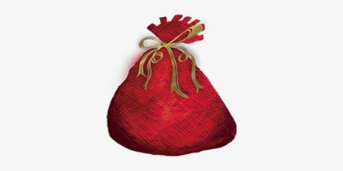 Как нарисовать мешок с подарками на Новый год 2019