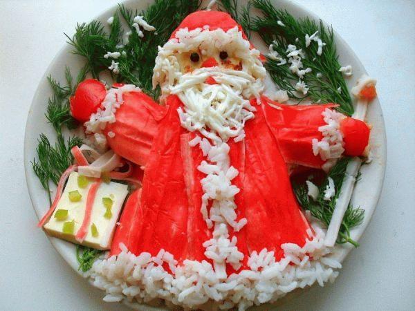Салат в новогоднюю ночь