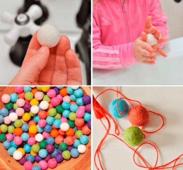 Гирлянда из войлочных шариков