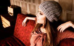 Узоры спицами со схемами простые и красивые для шапок