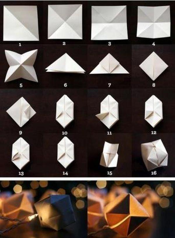 простые бумажные фонарики