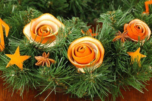 Цветы из цедры
