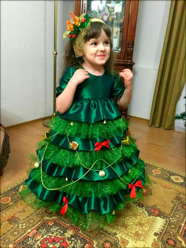 Новогодние костюмы для девочек - шьем своими руками