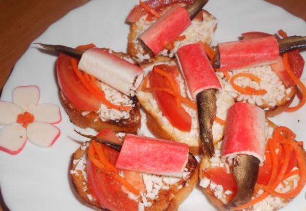 Бутерброды на Новый год 2019: пошаговые рецепты с фото