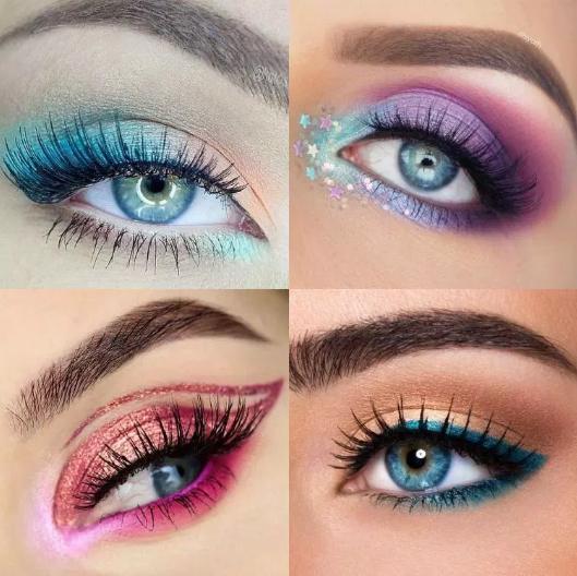 Макияж на Новый год 2019 для голубых глаз: модные новинки, идеи, фото