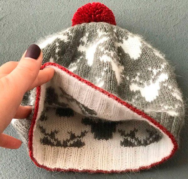 Схемы жаккардовых узоров для вязания шапок спицами