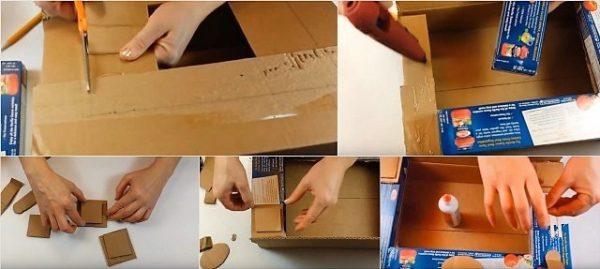Камин своими руками из коробок