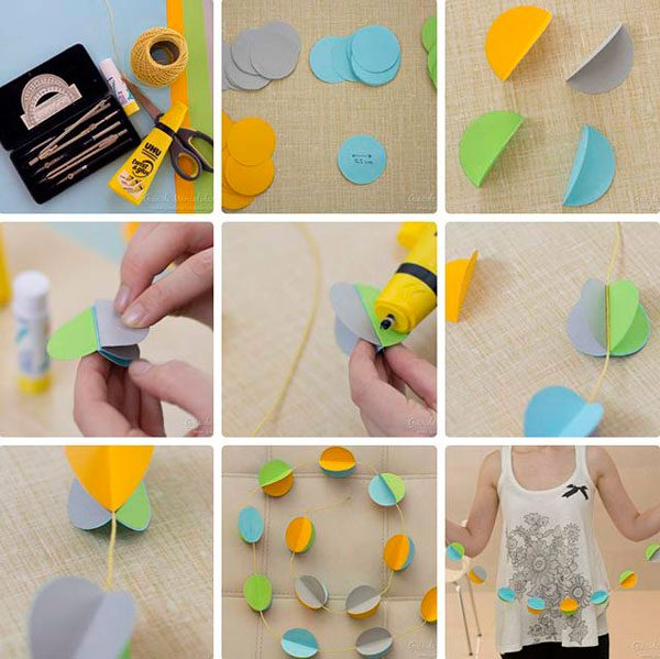 Гирлянды из оригами