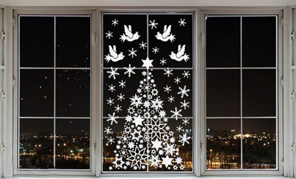 Вытынанки на Новый год 2019 своими руками: шаблоны на окна, фото
