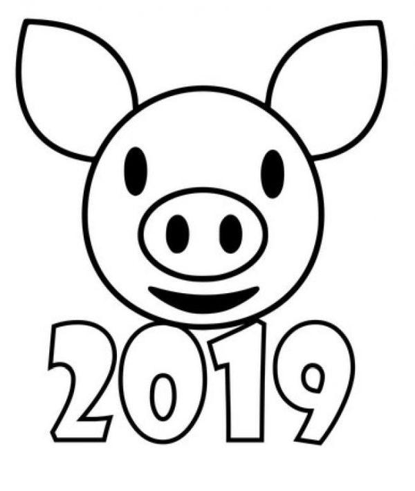 Трафареты на окна к Новому году 2019 для вырезания формата А4