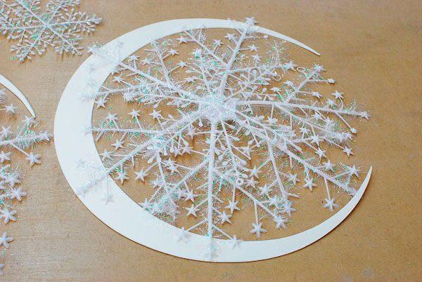 Объемная снежинка для декора интерьера