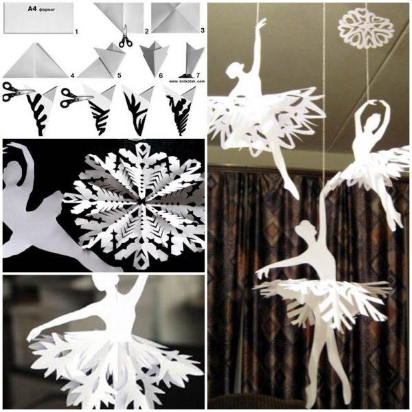 Как делать красивые снежинки из бумаги на Новый год 2019