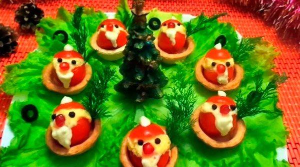 Дед Мороз в тарталетке