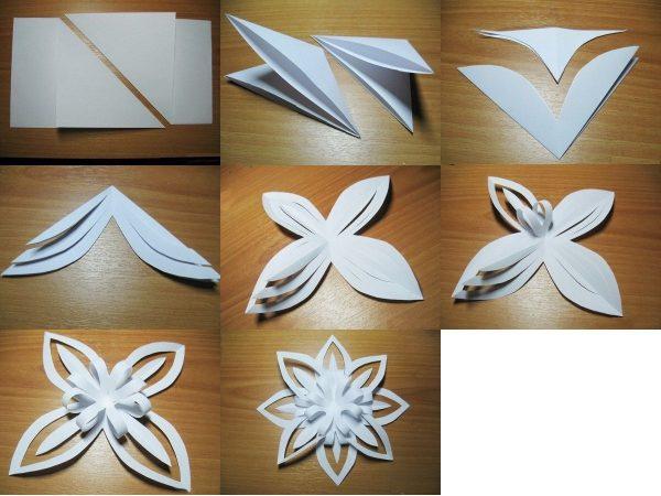 Как легко сделать снежинку 3D своими руками