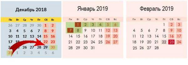 Первый рабочий день в январе 2019 года