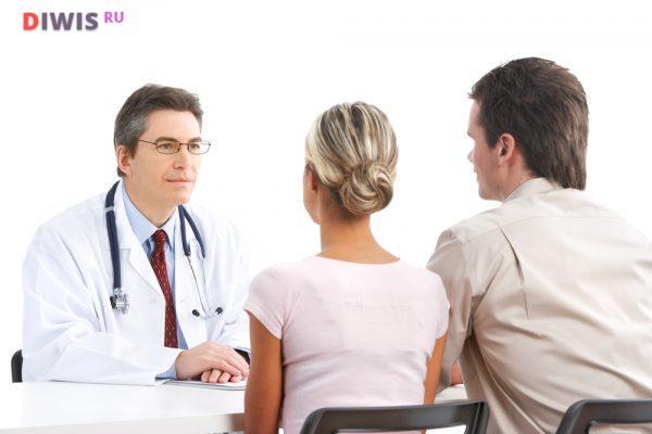 Осмотр также проходит в виде диалога между врачом и пациентом