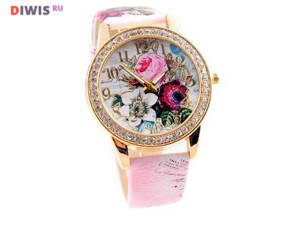 Женские часы с цветами