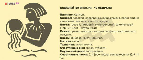 Любовный гороскоп на 2019 год для женщины Водолей по месяцам