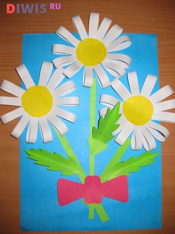 Простой подарок маме из цветной бумаги