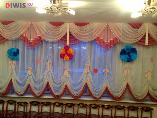 Оформление зала к 8 марта в детском садике