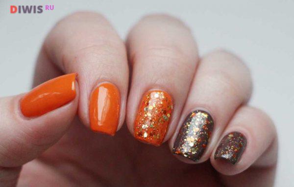 Оранжевый коричневый