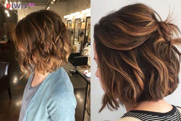 Актуальные цвета для брюнеток на короткие волосы