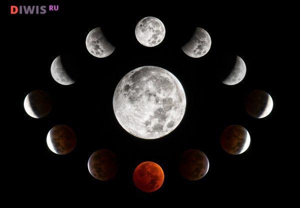Фазы луны в августе 2019 года
