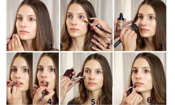 Порядок нанесения макияжа на лицо пошагово инструкция и советы