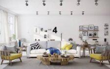 Ремонт в гостиной в современном стиле